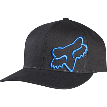 FLEX 45 FLEXFIT HAT BLK/BLU    SP16