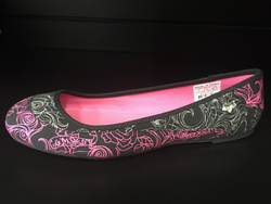 Girls Body Rock Shoe Black/Pink