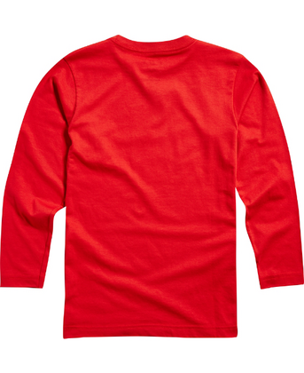 YOUTH DUSTY TRAILS LS TEE [DRK RD]    FA17