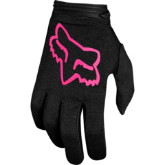 YTH GIRLS DIRTPAW MATA GLOVE [BLK/PNK] MX FA18