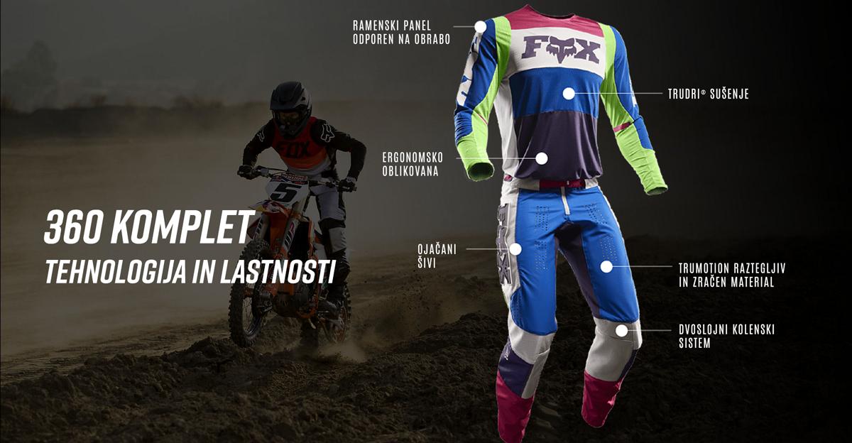 Flexair motokros hlače in dres