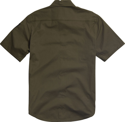 Enrique s/s Woven Military Green