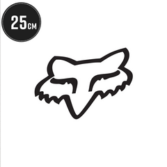 FOX HEAD TDC NALEPKA FOX 25CM/10 INCH [BLACK]