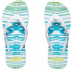 Girls Hollertronix Flip Flops Emerald