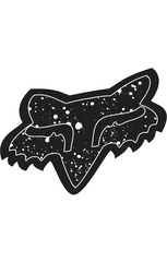 "SPLATTER Sticker 4"" BLK                 FA15"