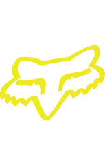 "FOX HEAD TDC Sticker 4"" FLO YLW         FA15"