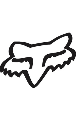 "FOX HEAD TDC Sticker 4"" BLK             FA15"