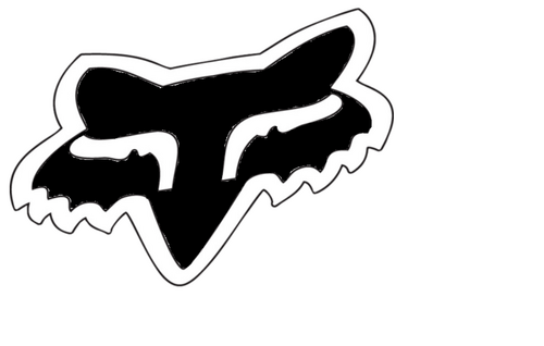 "FOX HEAD Sticker 4"" BLK                 FA15"