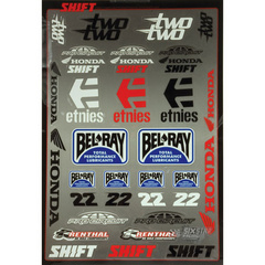 Two Two Motorsports Sticker Kit No Color No Size